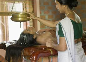 Body Massage in Ayurvedic Healing Village