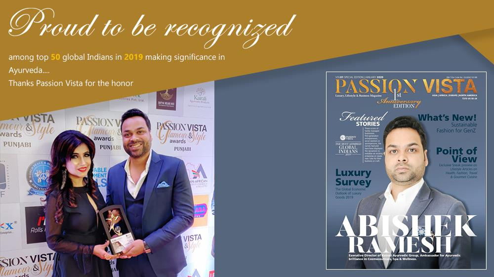Mr. Abishek R featured on the cover page as the top 50 admired Global Indians