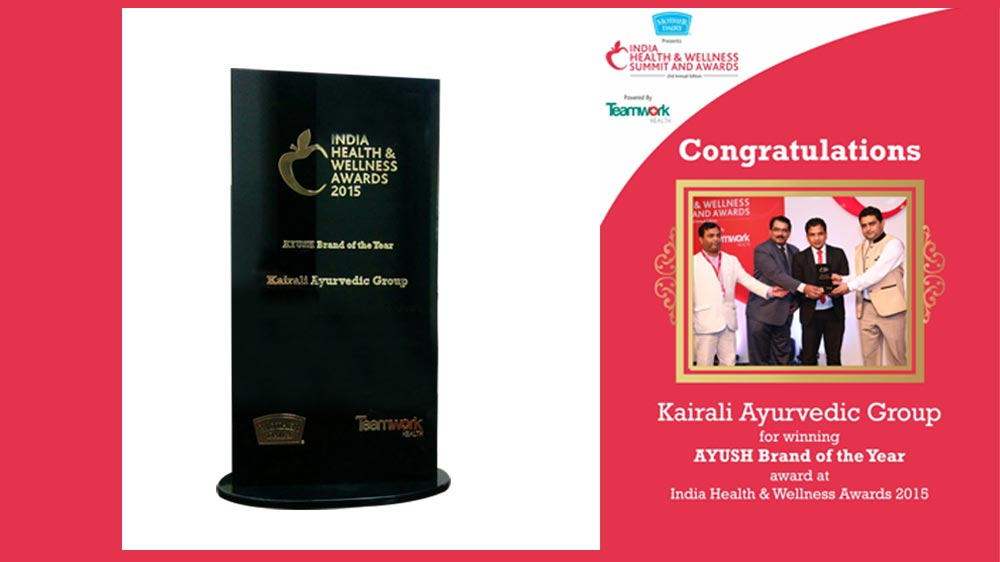 AYUSH Brand of the Year 2015 Award To Kairali Ayurvedic Group