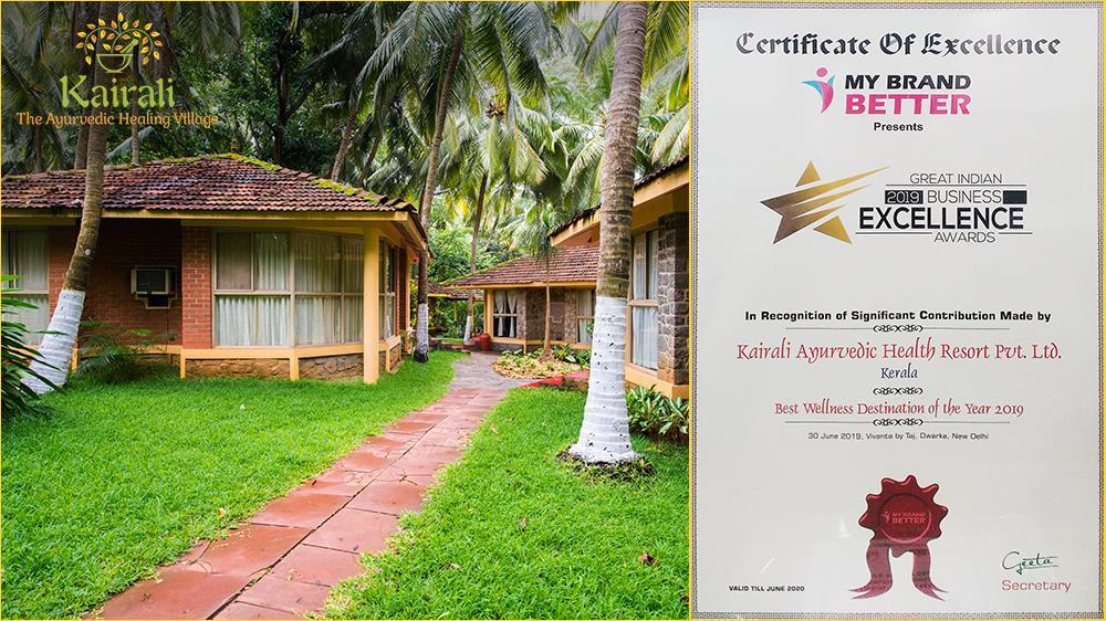 Kairali Healing Village wins the Best Wellness Destination of the Year