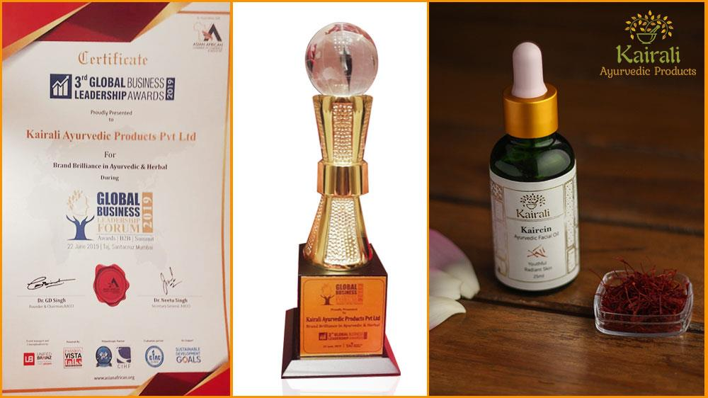 Karali Ayurvedic Products Wins Brand Brilliance Award in 2019