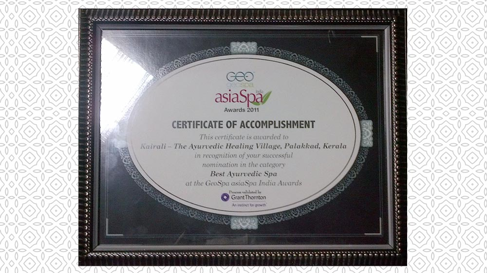 GeoSpa AsiaSpa India Awards 2011