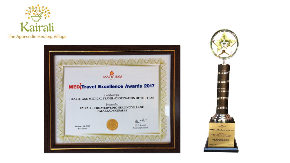 Kairali's Health Retreat, accoladed 'Health and Medical Travel Destination of the Year Award 2017'