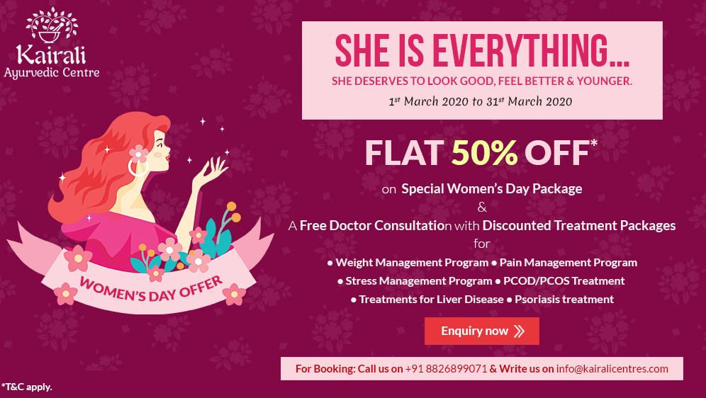 Kairali provides exciting offers on Women