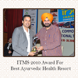ITM Award 2010  - Best Ayurvedic Health Resort