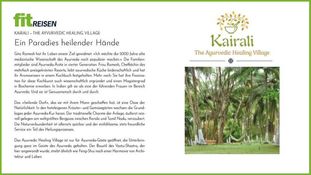 Kairali Ayurvedic Recipes in FitReisen