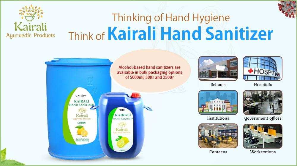 Kairali hand sanitizers supply to various places