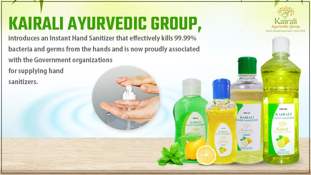 Kairali supports Government in supplying hand sanitizers