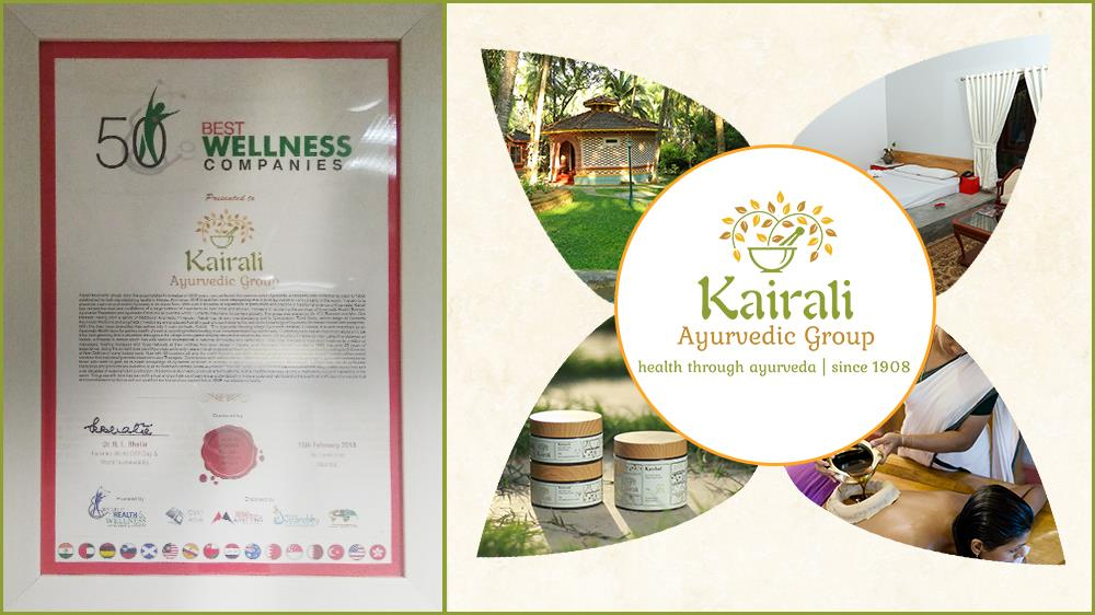 Kairali Group Amongst Best 50 Wellness Companies by World Health & Wellness Congress