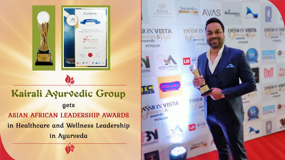 Asian African Leadership Awards 2020 for promoting Healthcare & Wellness in Ayurveda