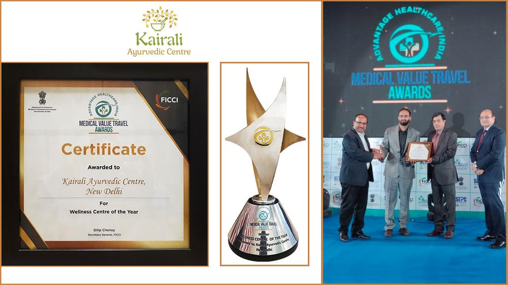 FICCI Medical Value Travel Award 2018 title won by Kairali Ayurvedic Center