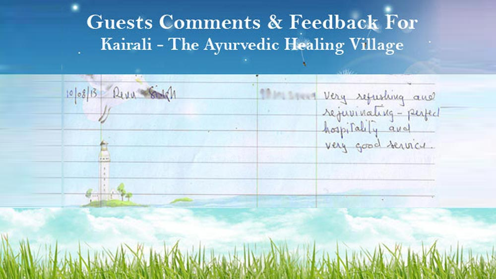 Renu Singh's Feedback on Ayurvedic Healing Village