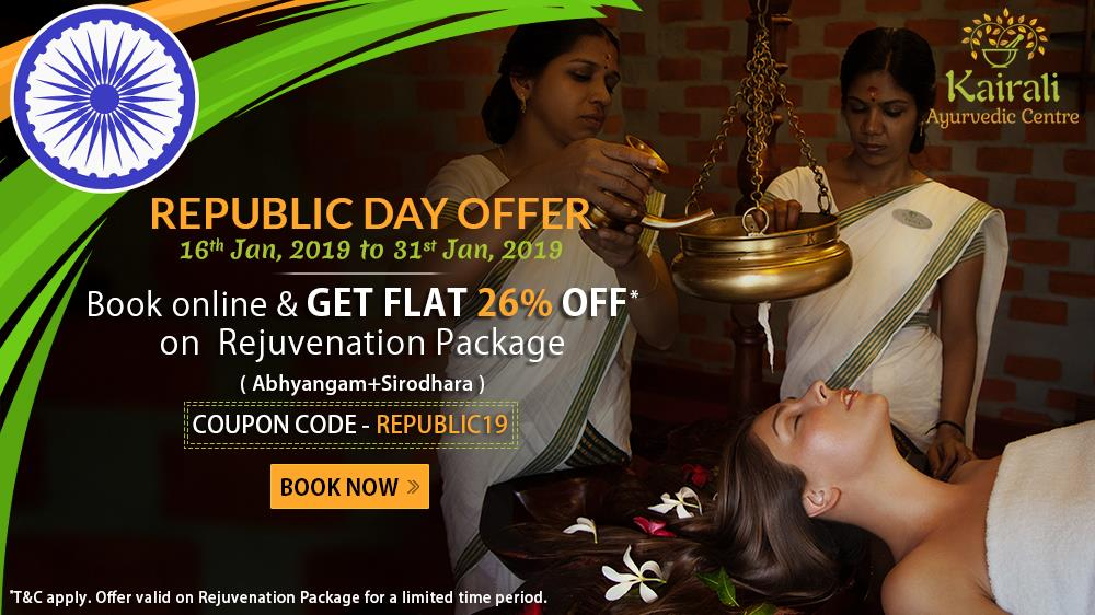 Republic Day Offer of Kairali Ayurvedic Centres