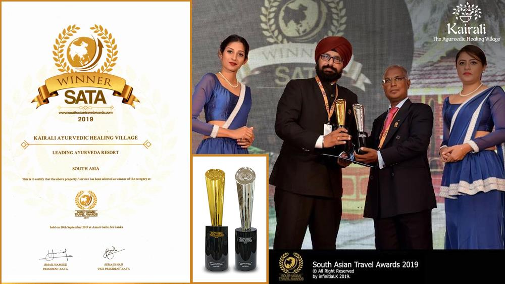 Top Ayurveda Health Farm, Kairali, wins South Asian Travel Awards Again