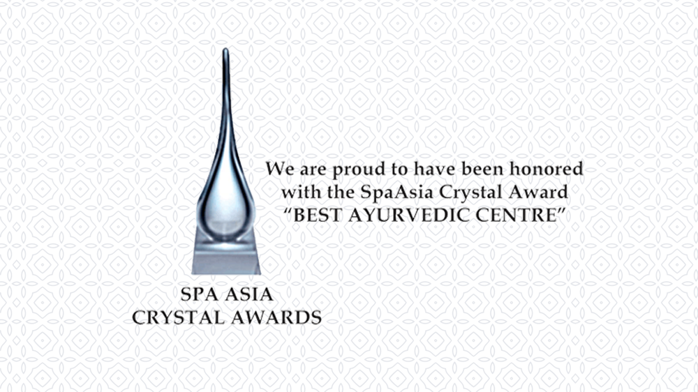 Spa Asia Crystal Award for Best Ayurvedic Center
