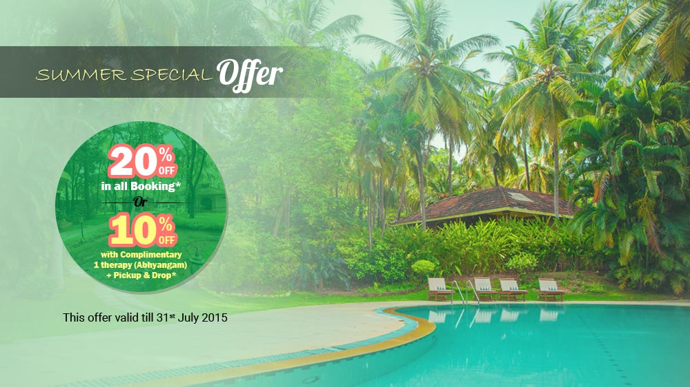 Summer Special Offer of Kairali - The Ayurvedic Healing Village
