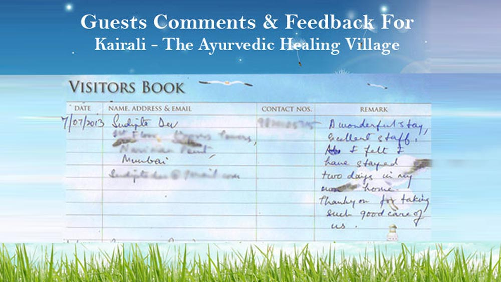 Sudipta Feedback on Ayurvedic Healing Village
