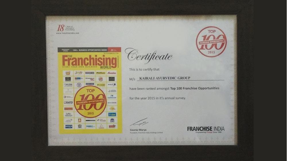 ayurveda franchise