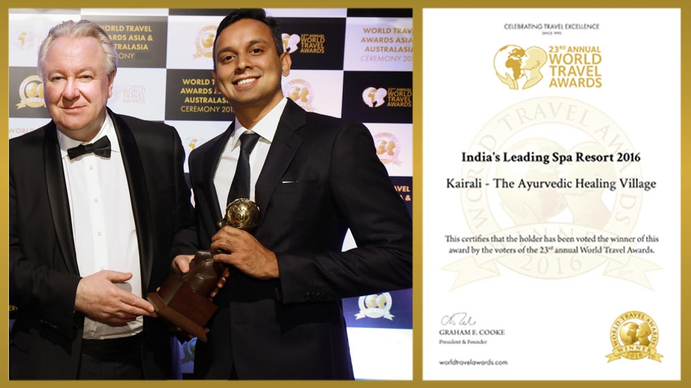 Kairali - The Ayurvedic Healing Village Wins The World Travel Award 2016