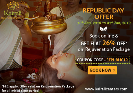Republic Day Offer from Kairali Ayurvedic Center