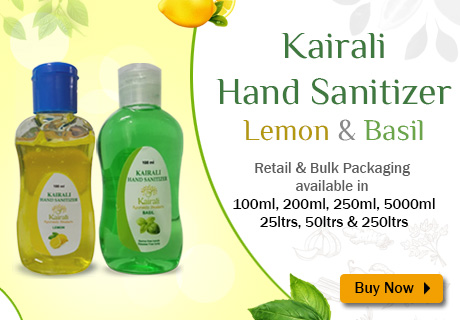 Kairali Hand Sanitizer Lemon & Basil