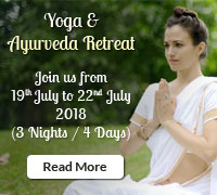 Lakshya Yoga and Ayurveda Retreat 19th July 2018 to 22nd July 2018